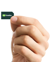 Sim card in hand PNG image