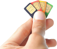 SIM cards in hand PNG