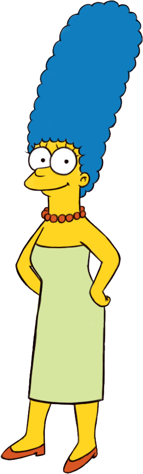 Marge From Simpsons Drinking Wine