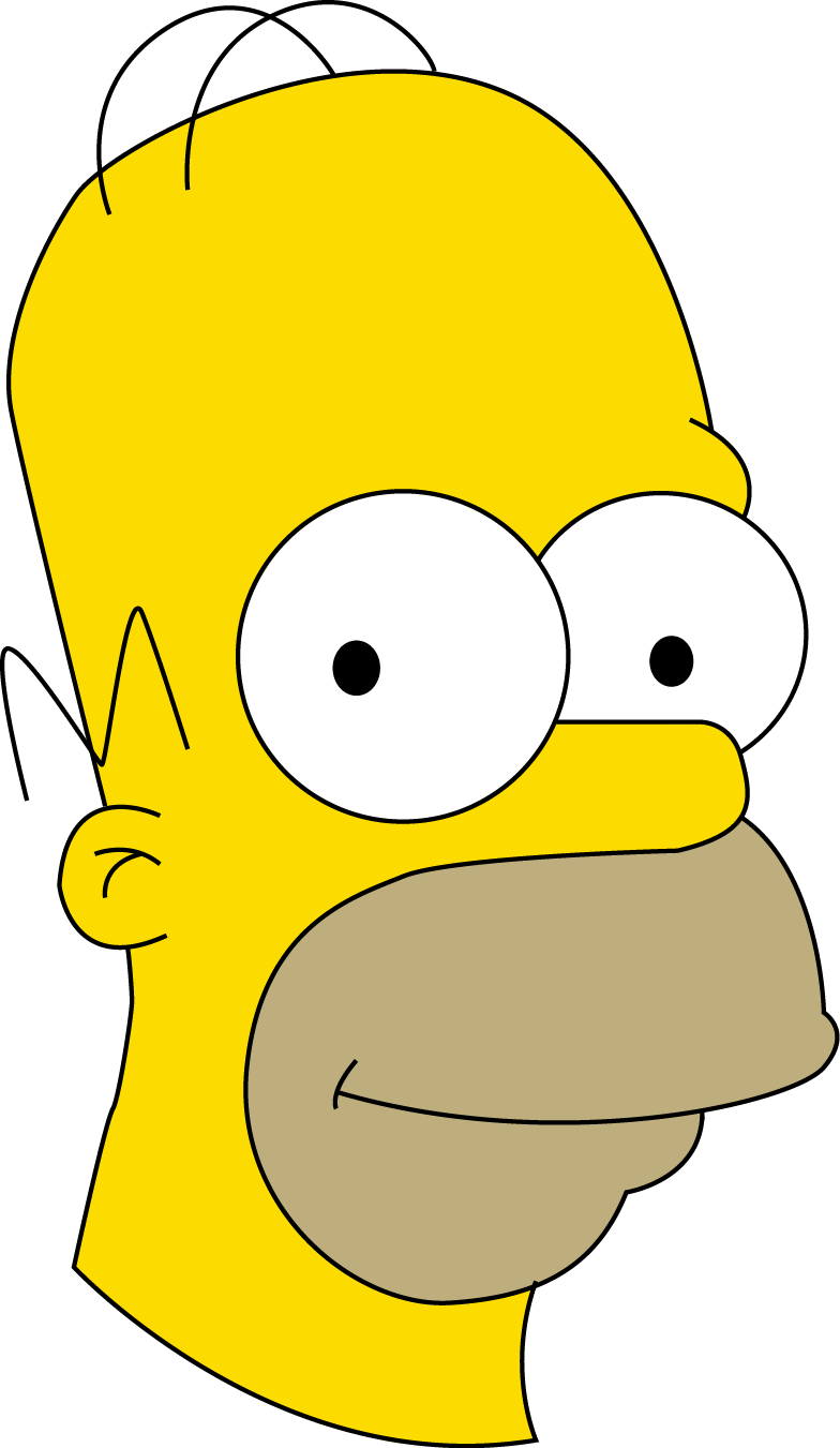 how to draw homer simpson head