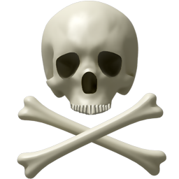 Skull and bones PNG image