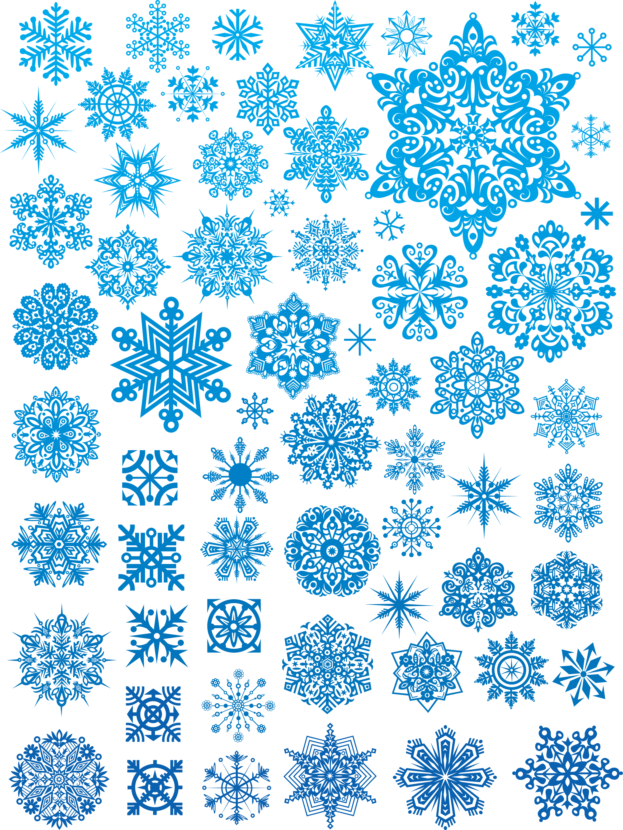 Snowflakes PNG image