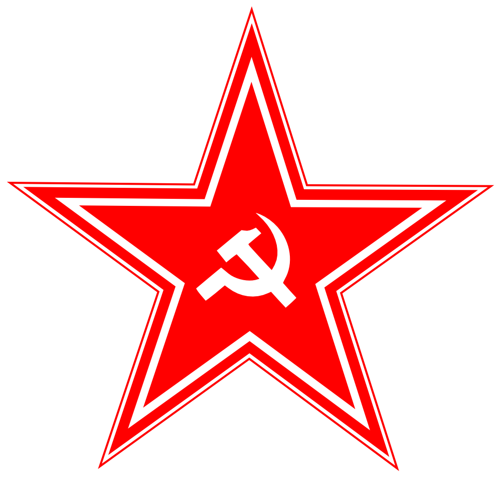red USSR star PNG image