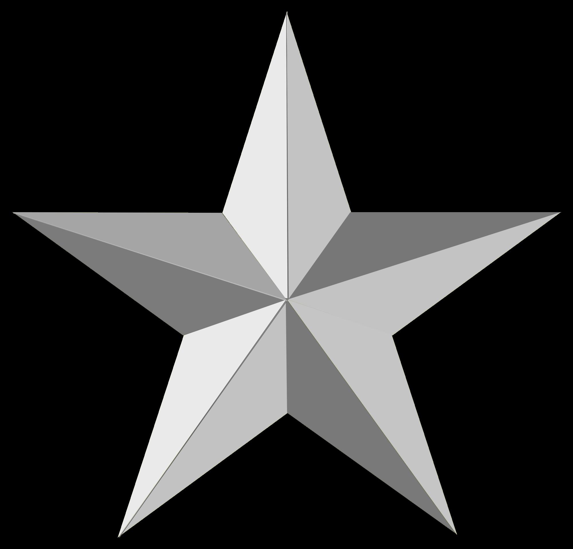 gray star PNG image