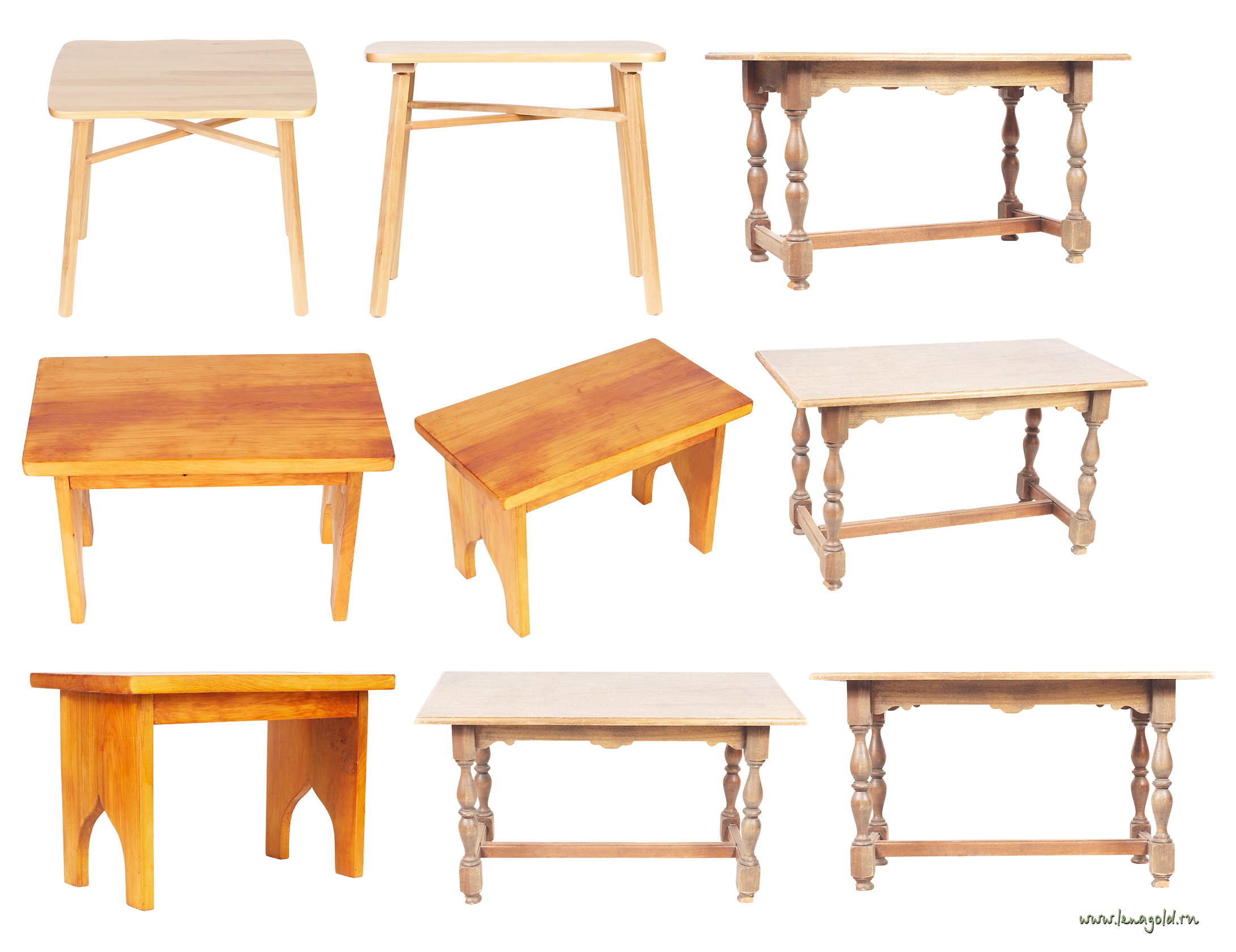 Wooden tables PNG image
