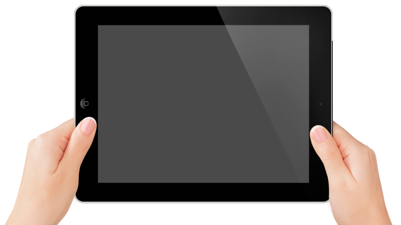 tablet in hands png image