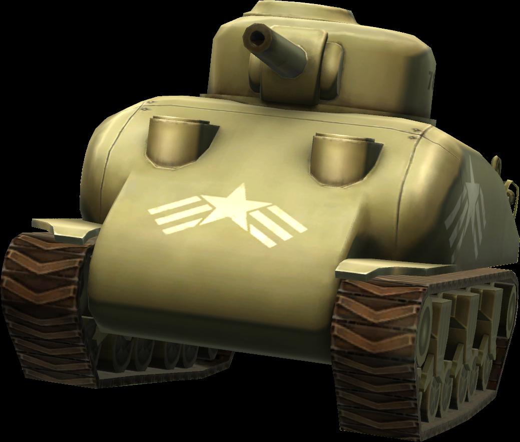 Sherman tank PNG image, armored tank