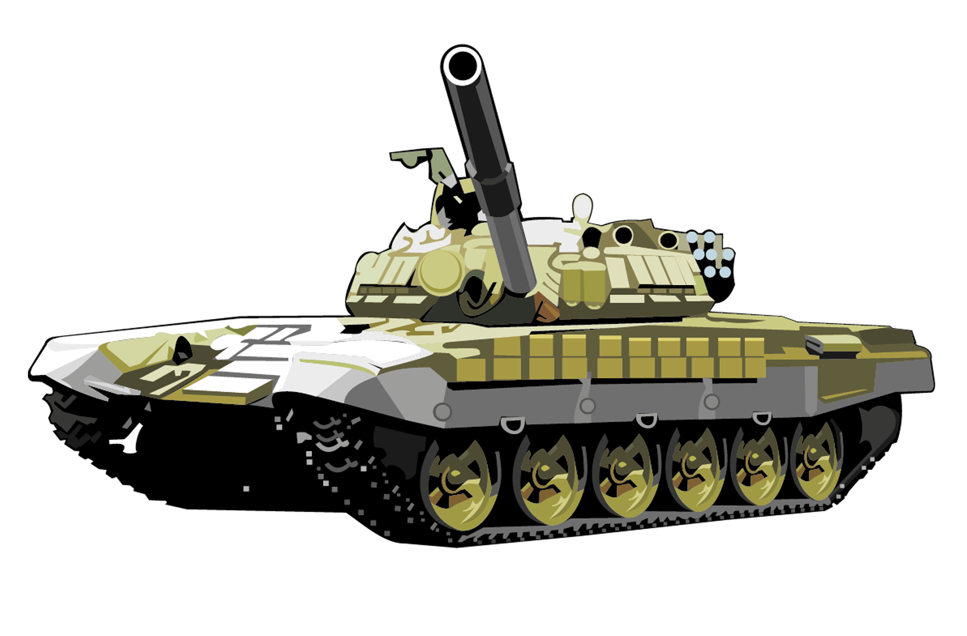 T72 tank PNG image, armored tank