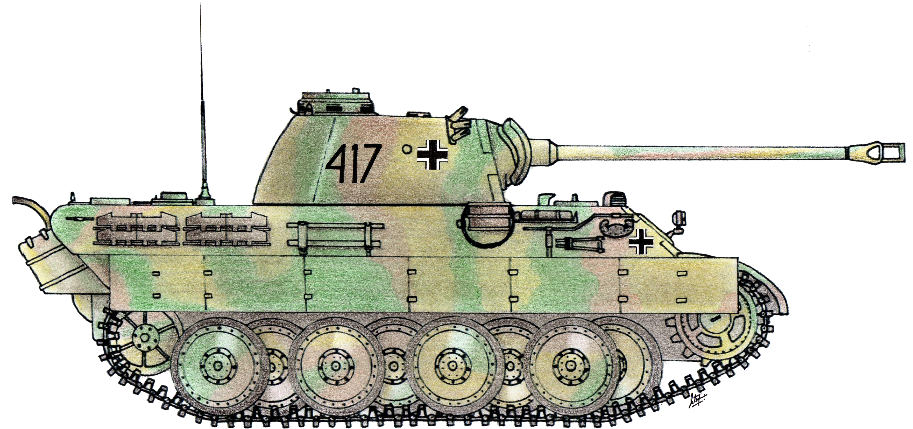 German tank PNG image, armored tank