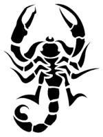 Tattoo scorpion PNG image