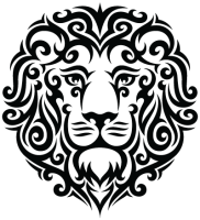 Tattoo lion PNG image