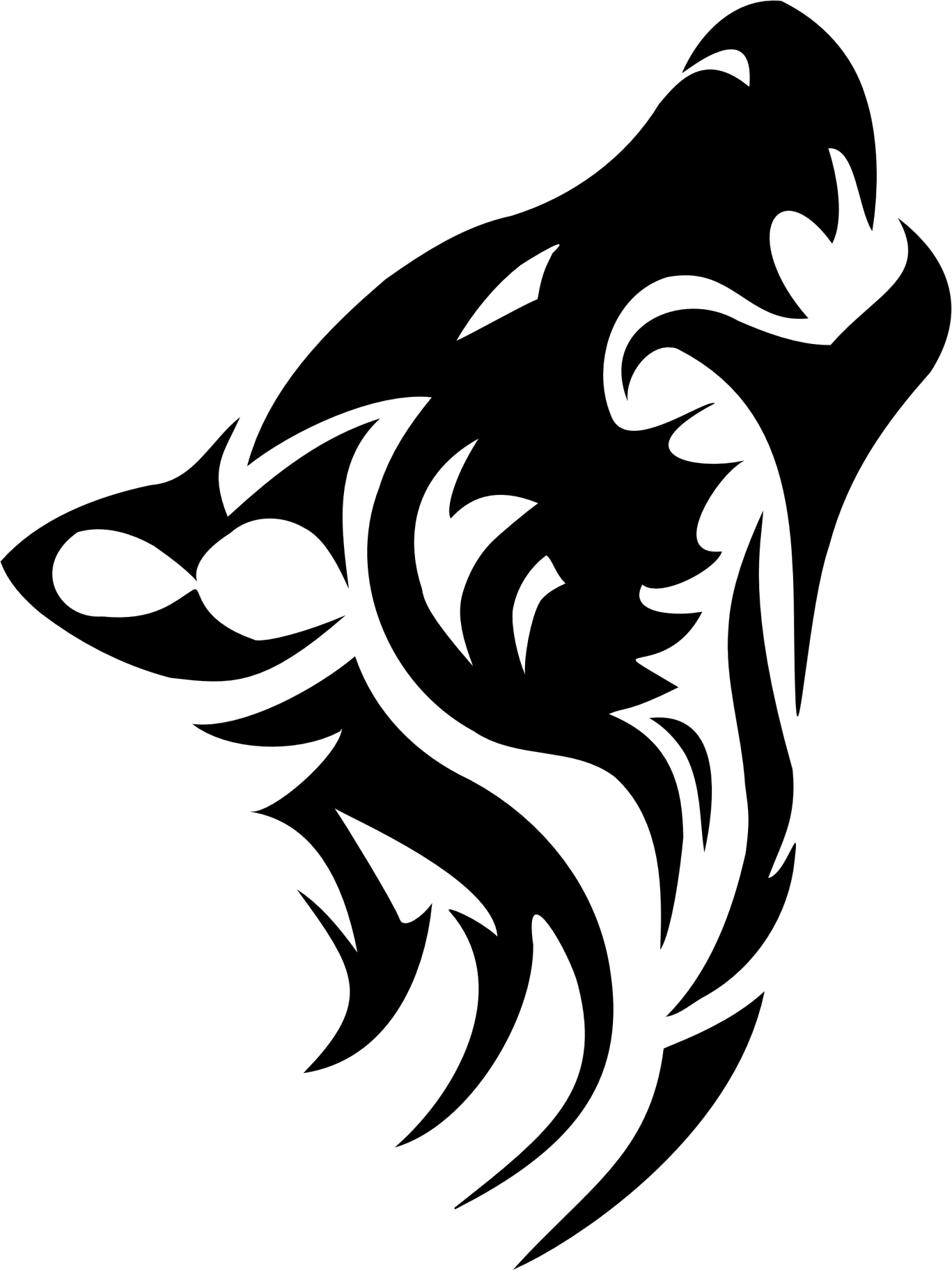 Tattoo wolf PNG image