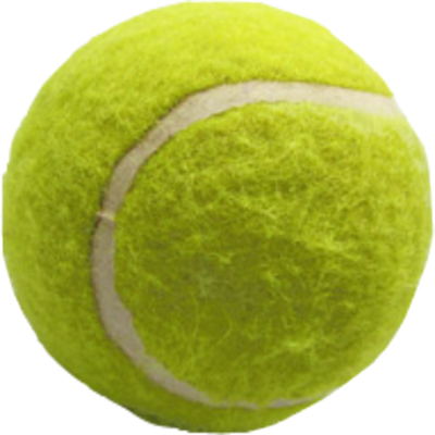 Tennis green ball PNG image