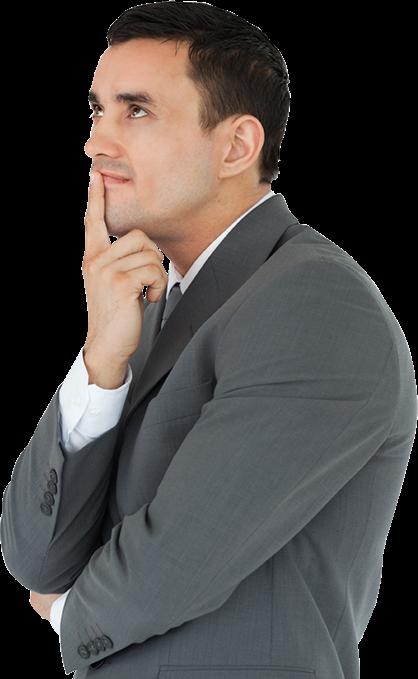 Thinking man PNG Man Thinking Png