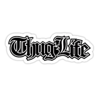 Thug life sticker PNG