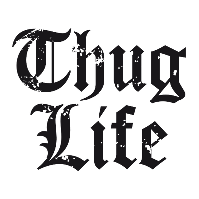 Thug life title PNG