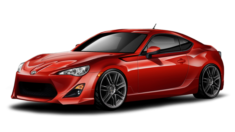 Red Toyota GT86 PNG image, free car image