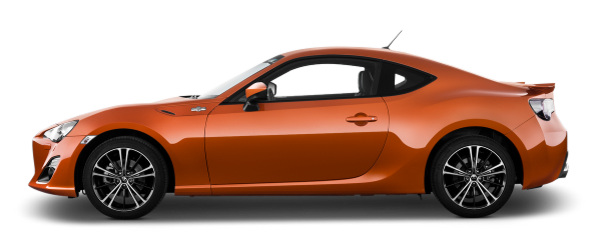 Orange Toyota GT86 PNG image, free car image
