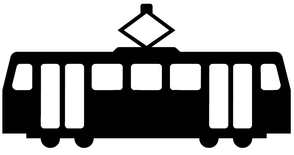 Straßenbahn Symbol