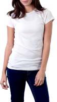 woman in white t-shirt PNG image