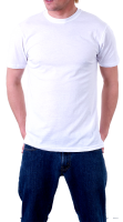 Man in white t-shirt PNG image
