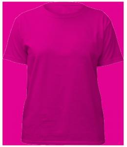 Pink t shirt png image for Transparent top design