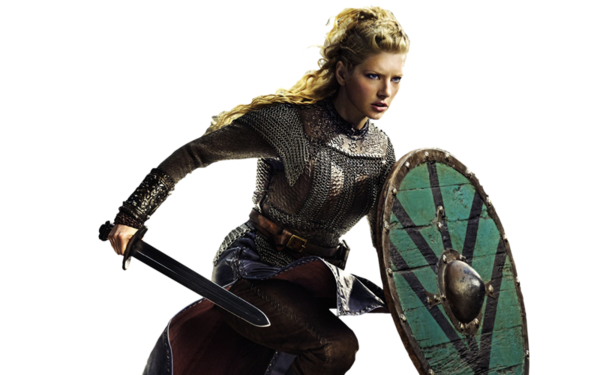 Viking woman PNG