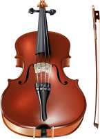 Violin and bow PNG