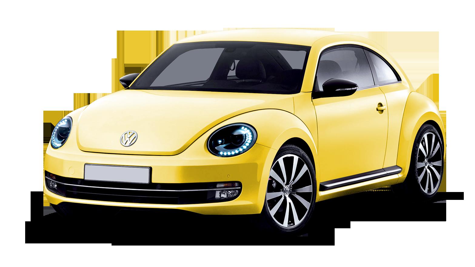 Yellow Volkswagen Beetle PNG car image