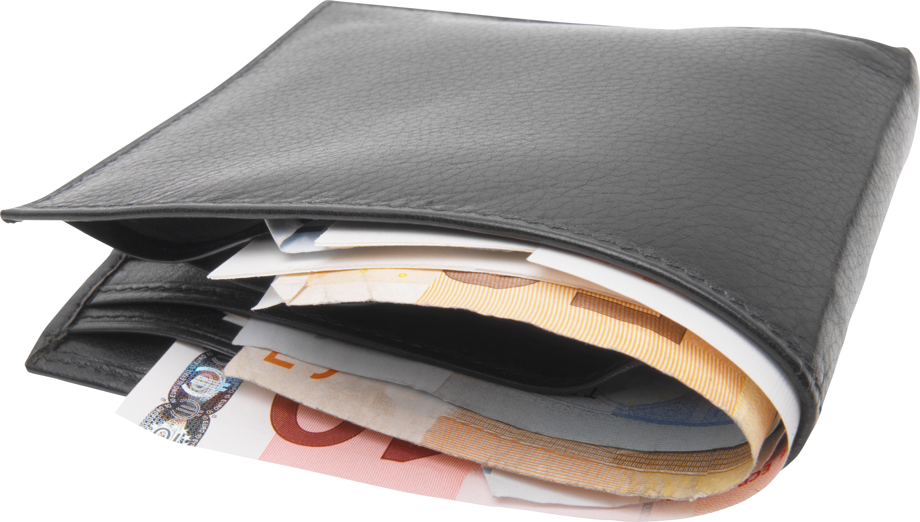 Wallet with money PNG image