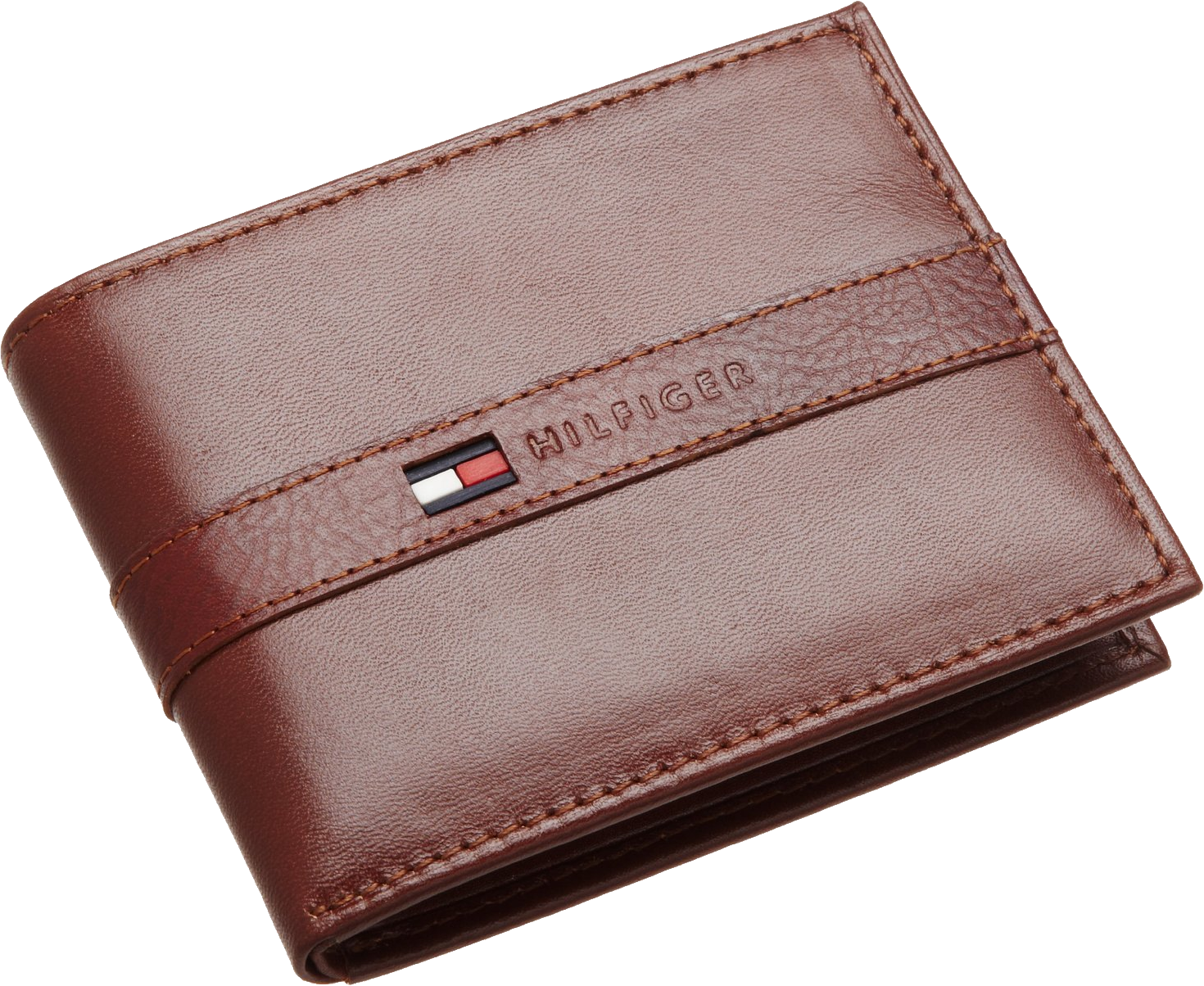 Brown leather wallet PNG image