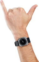 watches on hand PNG image