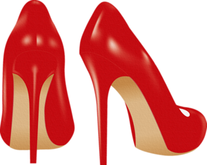 Red women shoes PNG image