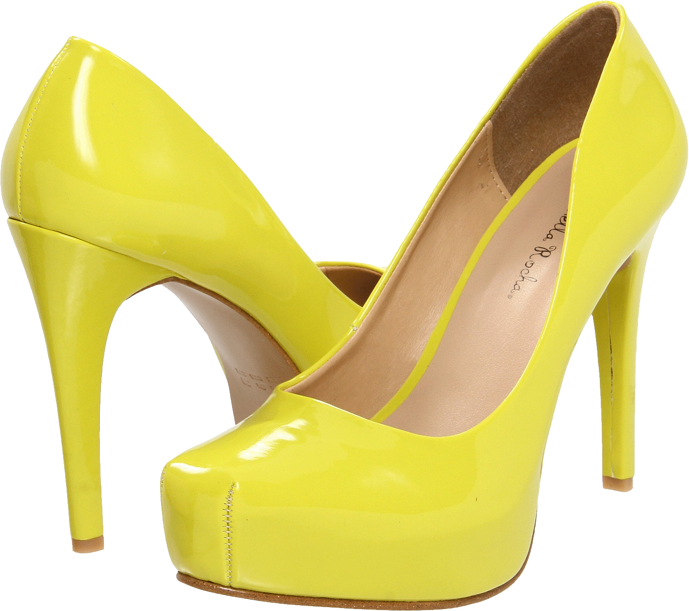 Yellow women shoes PNG image
