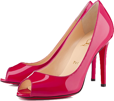 Pink women shoes PNG image