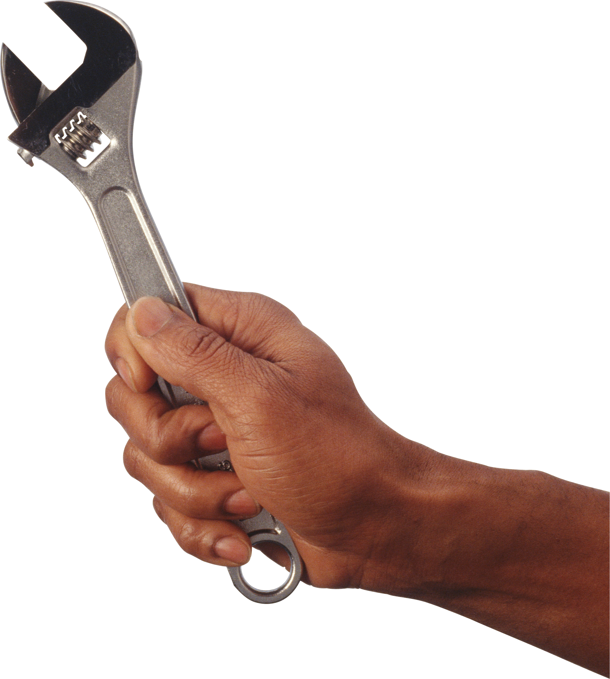 Wrench in hand PNG